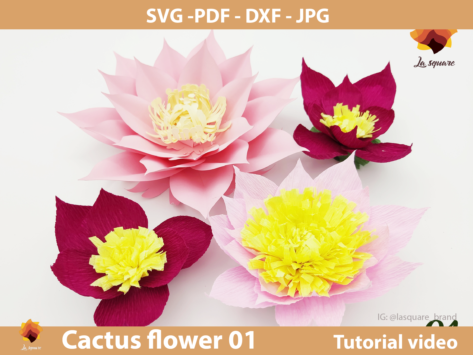 Download Free Ctf 01 Giant Paper Flowers Backdrop Graphic By Lasquare Info for Cricut Explore, Silhouette and other cutting machines.