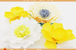 Download Free Ctf 02 Paper Flowers Backdrop Template Graphic By Lasquare for Cricut Explore, Silhouette and other cutting machines.