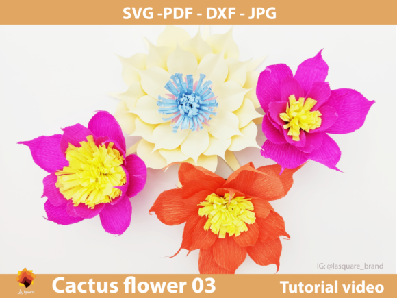 Download Free Ctf 03 Giant Paper Flowers Backdrop Graphic By Lasquare Info for Cricut Explore, Silhouette and other cutting machines.