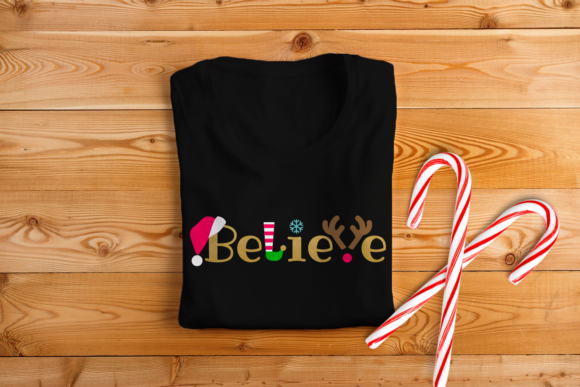 Download Free Christmas Believe Word Art Grafico Por Designedbygeeks for Cricut Explore, Silhouette and other cutting machines.