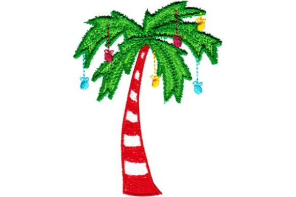 Christmas Palm Tree Christmas Embroidery Design By Sue O'Very Designs