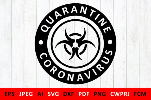 Download Free Coronavirus Quarantine Icon Graphic By Millerzoa Creative Fabrica SVG Cut Files