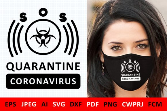 Print on Demand: Coronavirus Quarantine Icon Graphic Illustrations By millerzoa