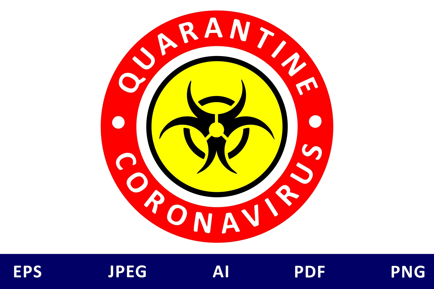 Download Free Coronavirus Quarantine Icon Graphic By Millerzoa Creative Fabrica for Cricut Explore, Silhouette and other cutting machines.