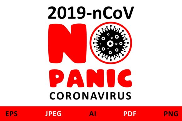 Download Free Coronavirus Quarantine Icon No Panic Graphic By Millerzoa for Cricut Explore, Silhouette and other cutting machines.