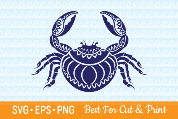 Crab Mandala Zentangle Graphic Crafts By OlimpDesign