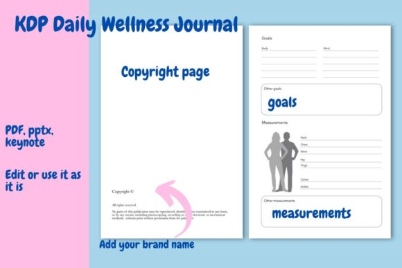 Download Free Daily Wellness Journal Graphic By Income Plum Creative Fabrica for Cricut Explore, Silhouette and other cutting machines.