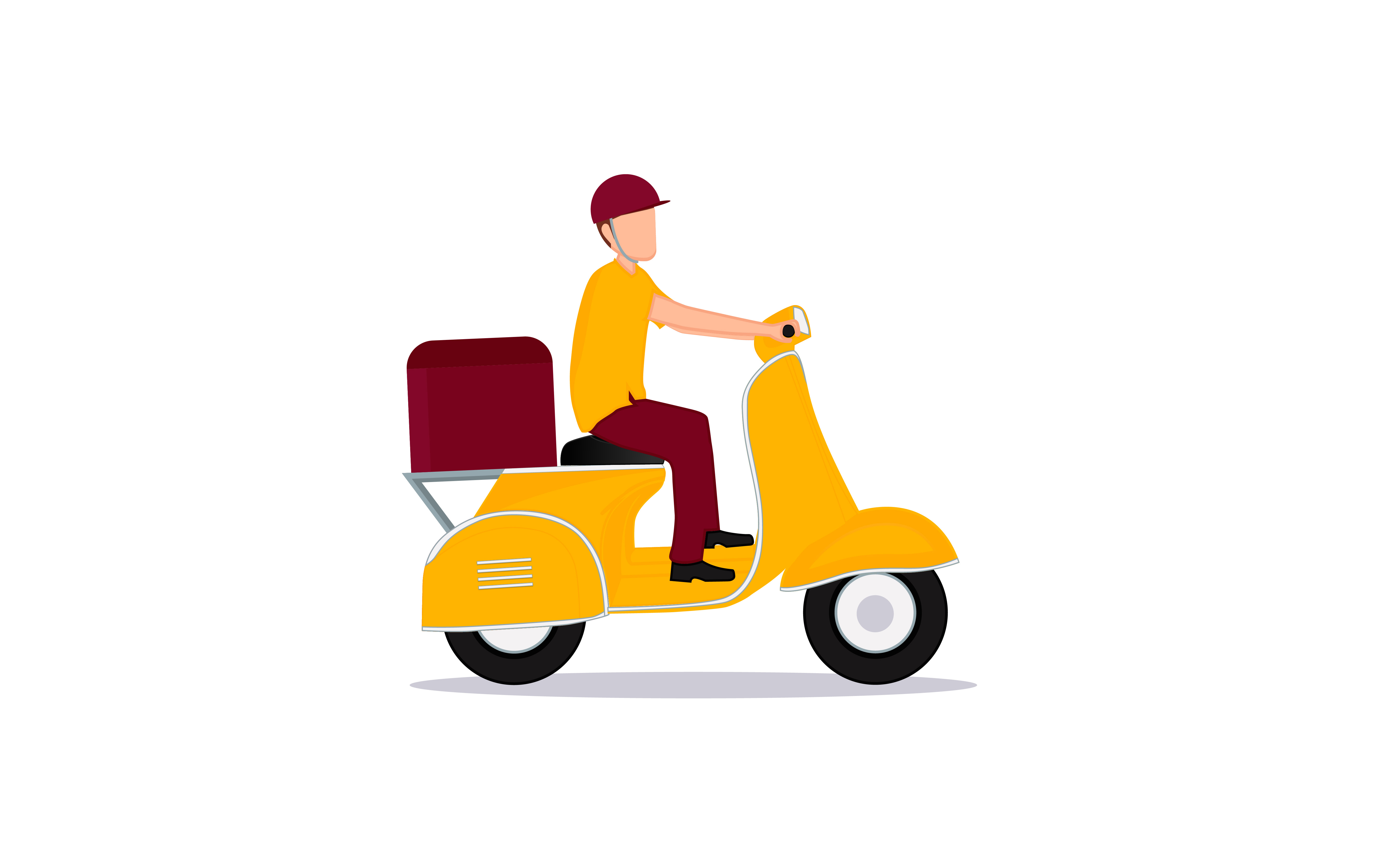Download Free Delivery Service Motorcycle Design Graphic By Ngabeivector for Cricut Explore, Silhouette and other cutting machines.