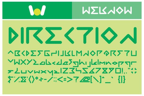 Print on Demand: Direction Display Font By weknow