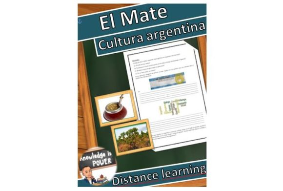 Distance Learning Spanish, El Mate Graphic Teaching Materials By alifarid