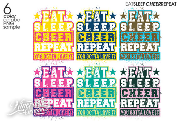 Download Free Eat Sleep Cheer Repeat Quote Graphic By Ninerush Creative Fabrica for Cricut Explore, Silhouette and other cutting machines.