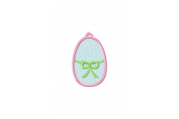 FSL Easter Egg Cross Bow Easter Embroidery Design By Sue O'Very Designs