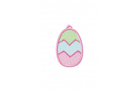 FSL Easter Egg Cross ZigZag Easter Embroidery Design By Sue O'Very Designs