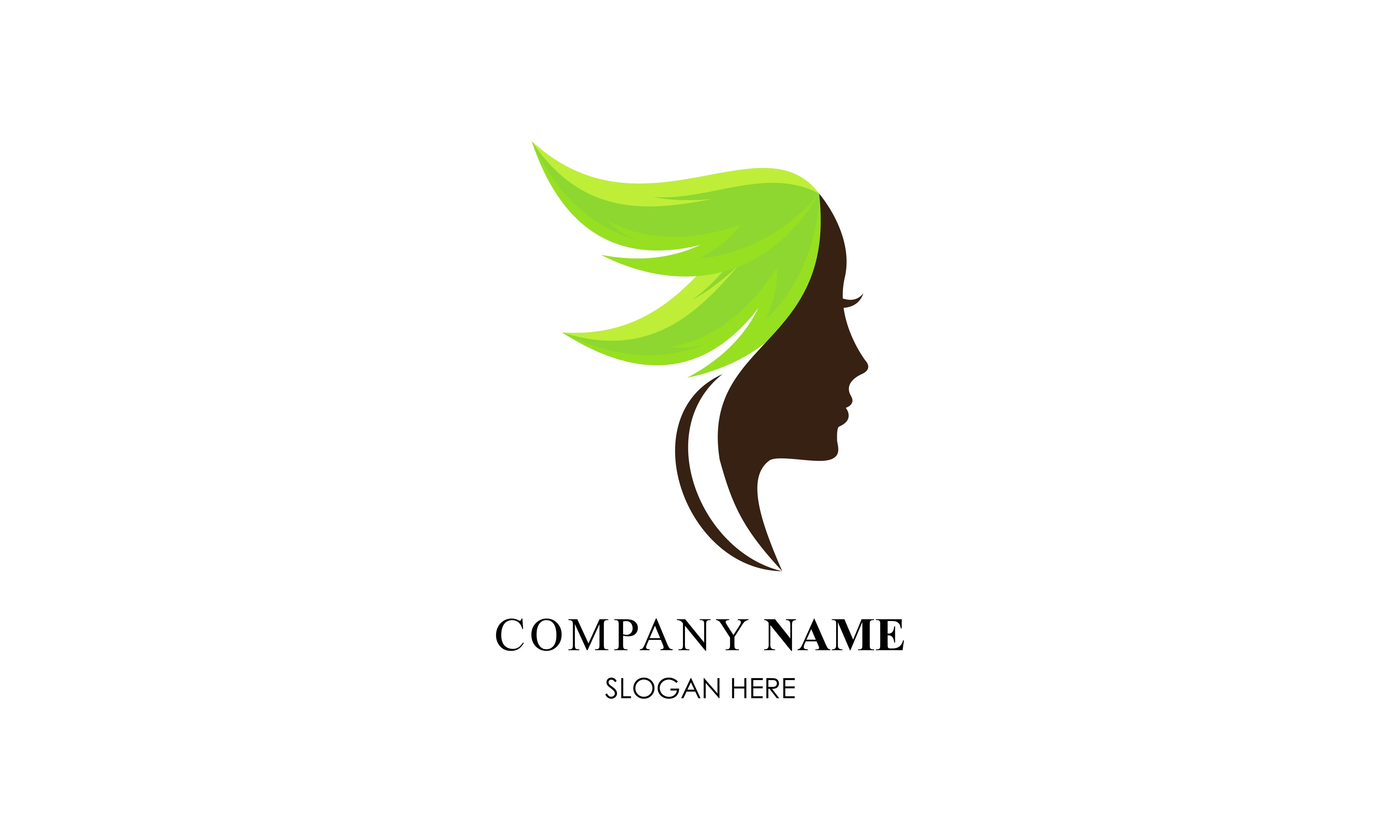 Download Free Face Leaf Woman Ecology Green Leaf Logo Graphic By Deemka Studio for Cricut Explore, Silhouette and other cutting machines.