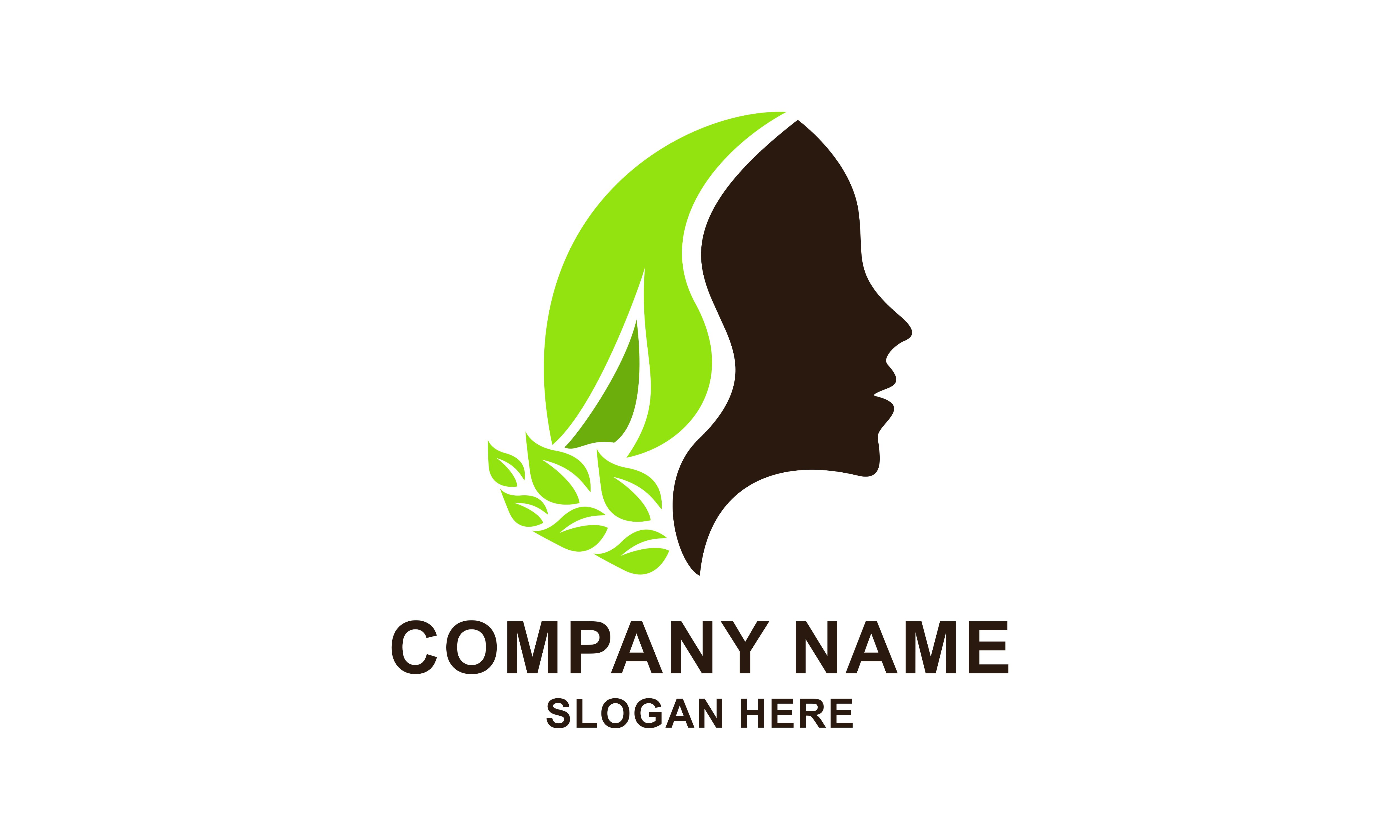Download Free Face Leaf Woman Ecology Green Leaf Logo Graphic By 2qnah for Cricut Explore, Silhouette and other cutting machines.