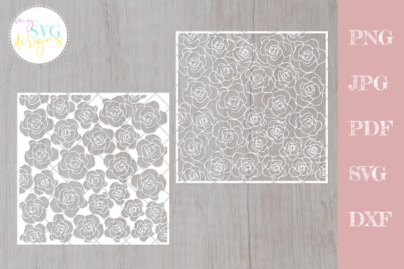 Flower Pattern, Floral Lace  Grafik Plotterdateien von MySVGDesigns