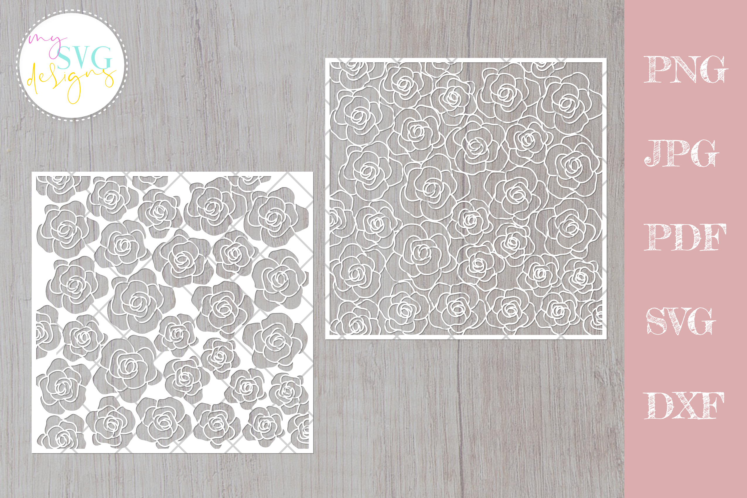 Download Free Flower Pattern Floral Lace Graphic By Mysvgdesigns Creative for Cricut Explore, Silhouette and other cutting machines.