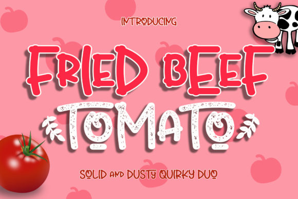Print on Demand: Fried Beef Tomato Script & Handwritten Font By airotype