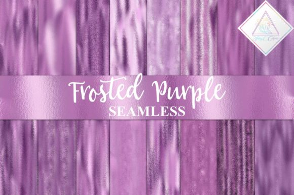 Print on Demand: Frosted Purple Digital Paper Graphic Textures By fantasycliparts