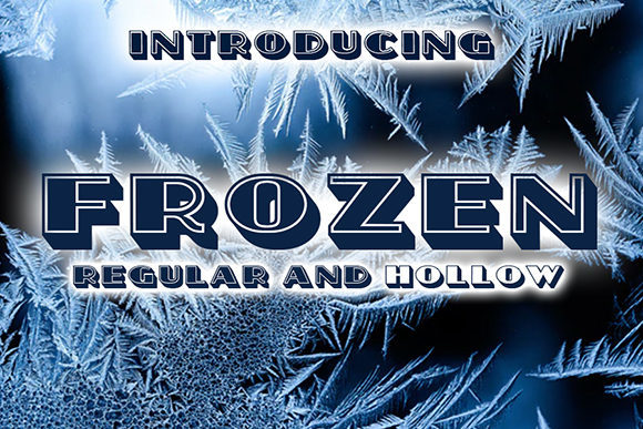Print on Demand: Frozen Decorative Font By vladimirnikolic
