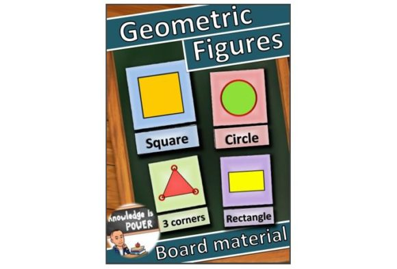Geometric Figures for Children Graphic Teaching Materials By alifarid