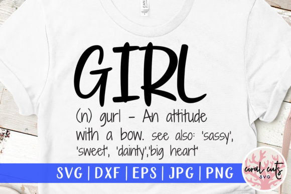 Girl Definition Graphic Crafts By CoralCutsSVG