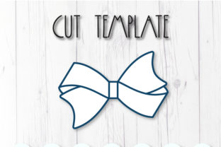 Hair Bow Template Graphic 3D SVG By ArtiCuties 2