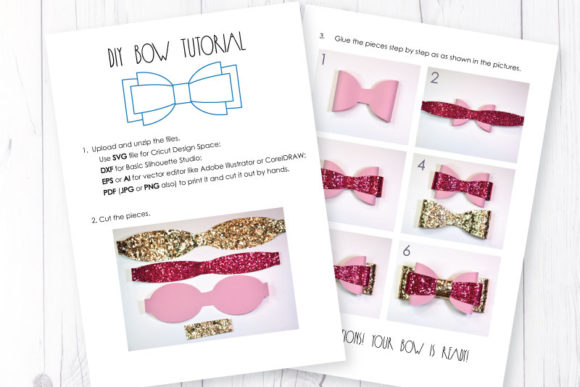 Hair Bow Template Graphic By Articuties Creative Fabrica
