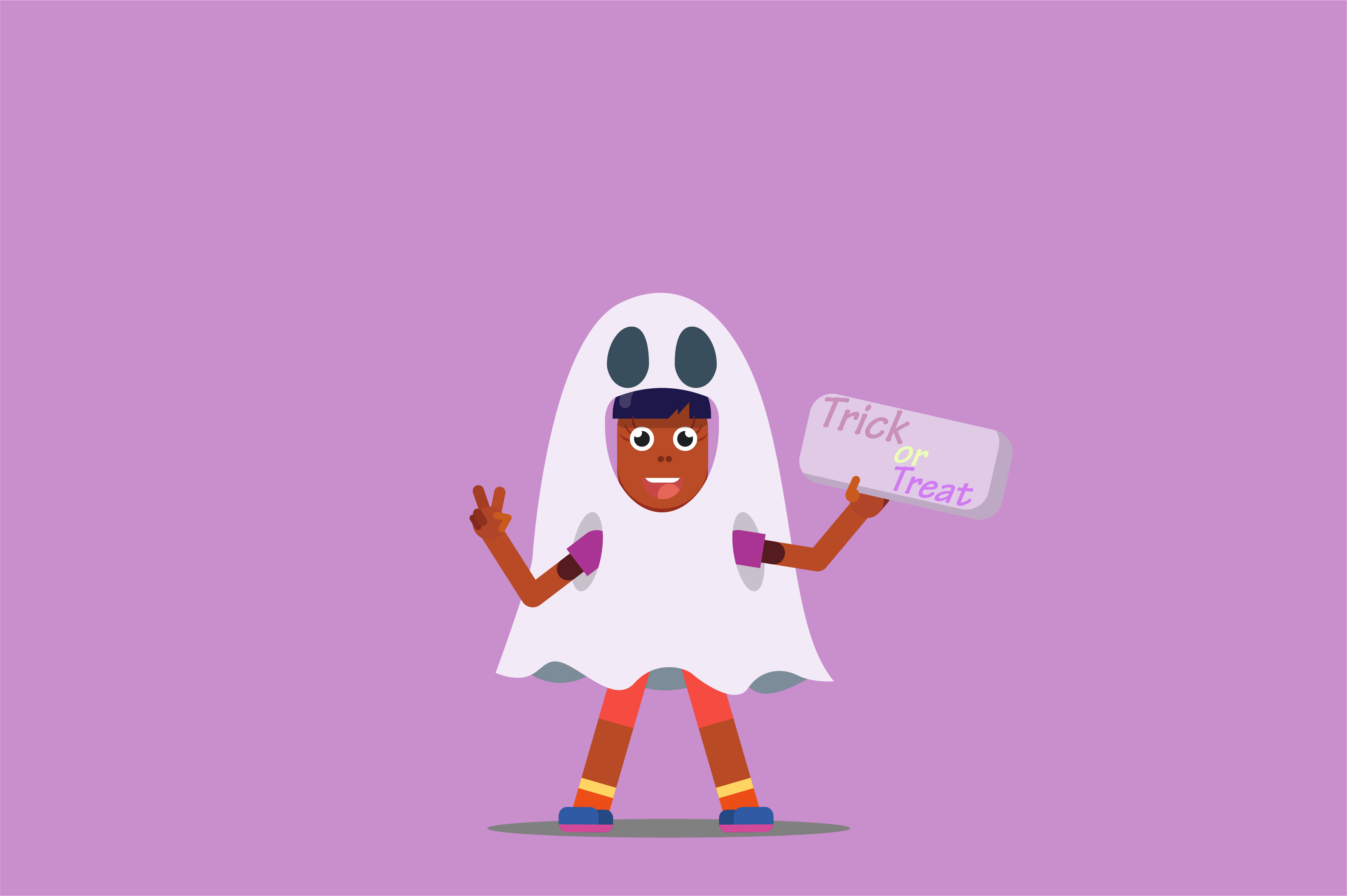 Download Free Halloween Characters Vector Illustration Graphic By Altumfatih for Cricut Explore, Silhouette and other cutting machines.
