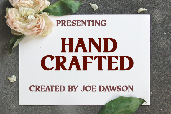 Print on Demand: Hand Crafted Display Font By Joe Dawson