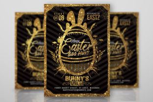 Happy Easter Egg Hunt Flyer Graphic Print Templates By n2n44.studio