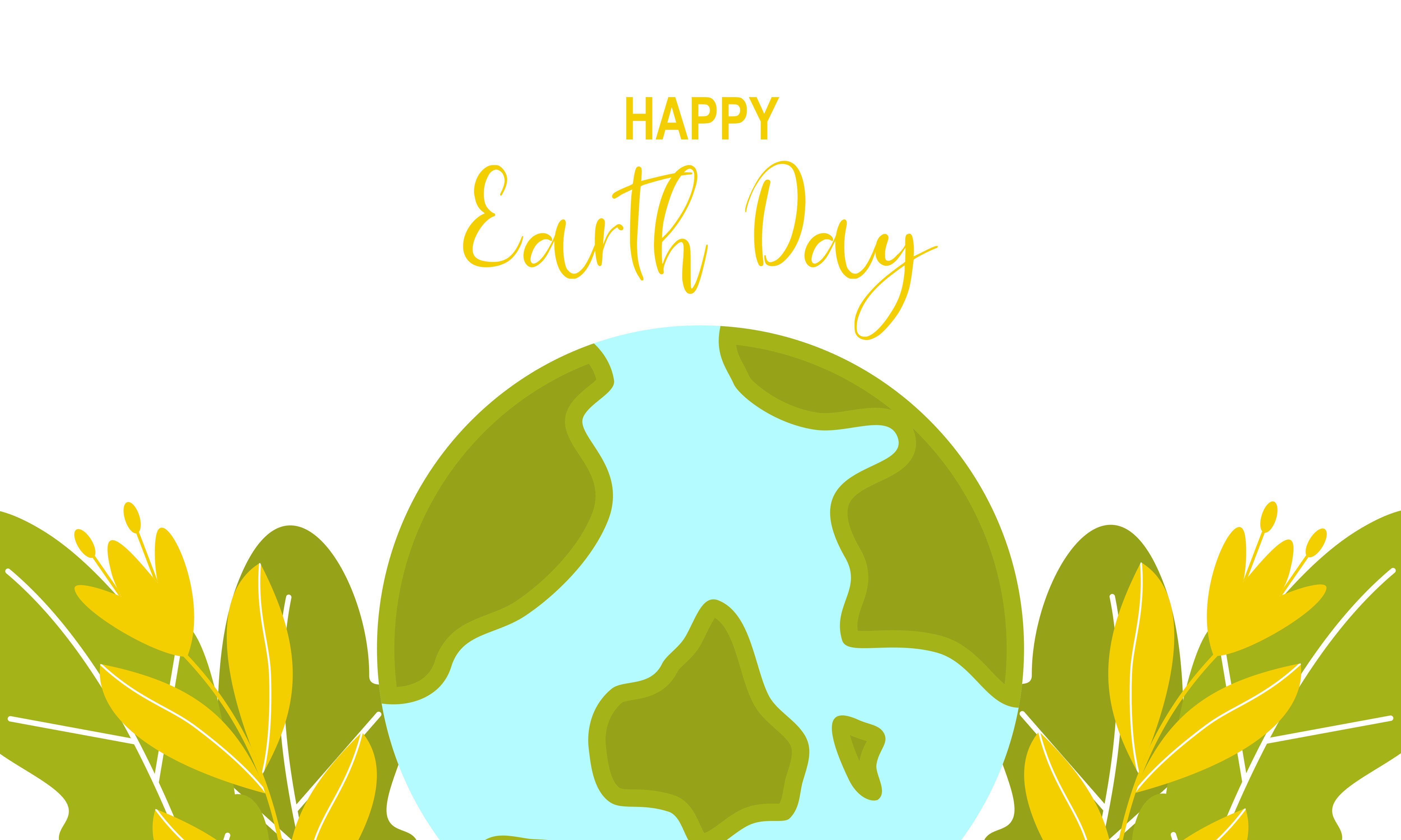 Download Free Happy International Earth Day Background Graphic By Deemka for Cricut Explore, Silhouette and other cutting machines.