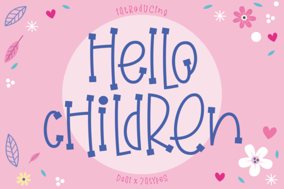 Print on Demand: Hello Children Display Font By Dani (7NTypes)