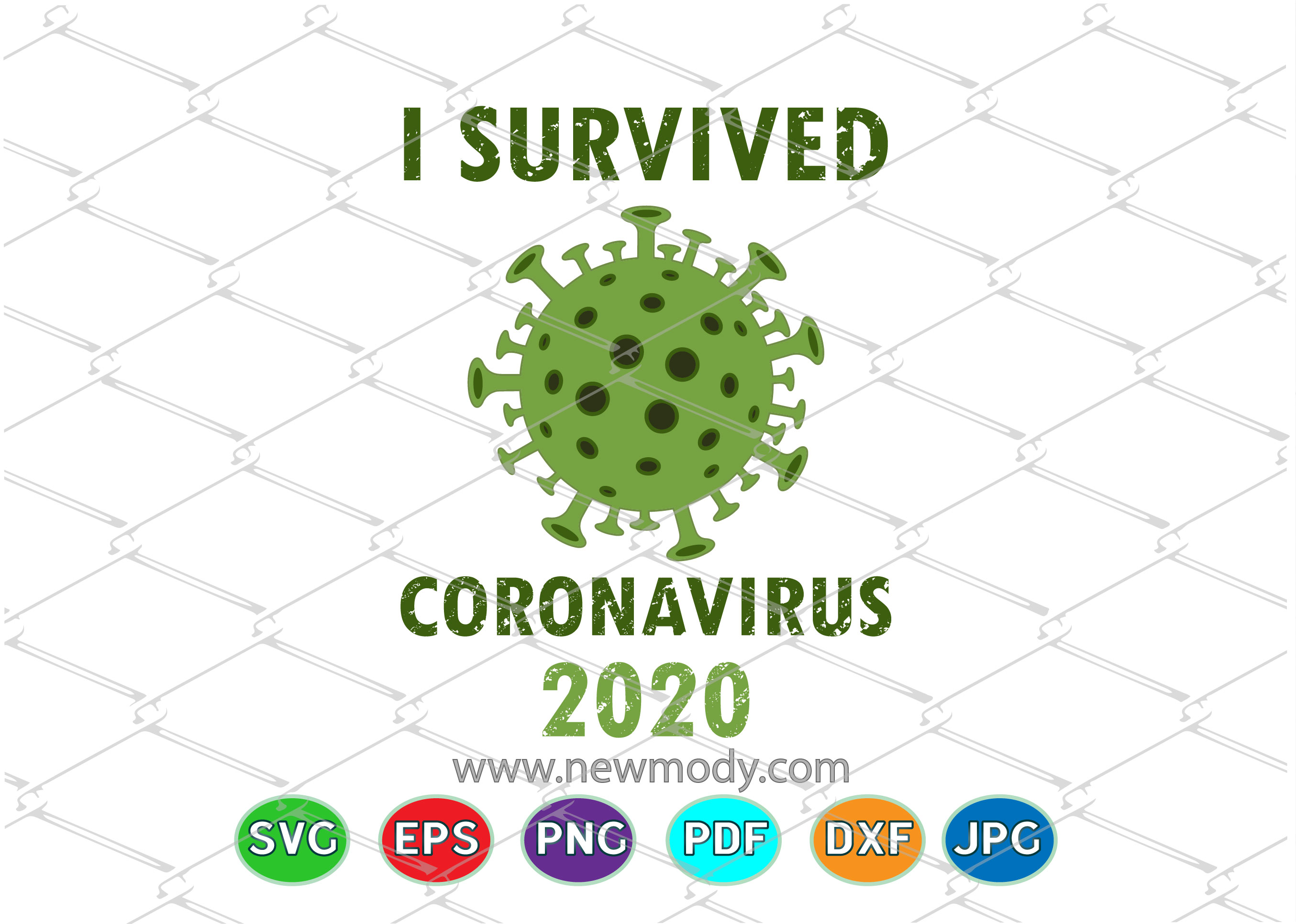 I Survived Coronavirus 2020 Graphic By Amitta Creative Fabrica