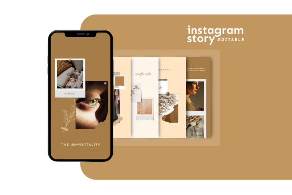 Download Free Instagram Story Template Graphic By Ovoz Graphics Creative Fabrica for Cricut Explore, Silhouette and other cutting machines.