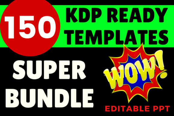 Print on Demand: KDP Super Bundle 150 Ready Templates Graphic KDP Interiors By Mastery Templates