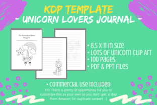 Print on Demand: KDP Template - Unicorn Lovers Journal Graphic KDP Interiors By Tomboy Designs