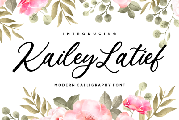 Print on Demand: Kailey Latief Script & Handwritten Font By Balpirick