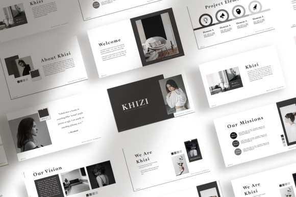Print on Demand: Khizi - Presentation Template Graphic Websites By ovoz.graphics
