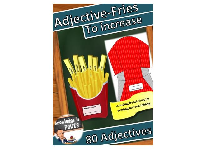 Download Free Learning Adjectives Graphic By Alifarid Creative Fabrica for Cricut Explore, Silhouette and other cutting machines.