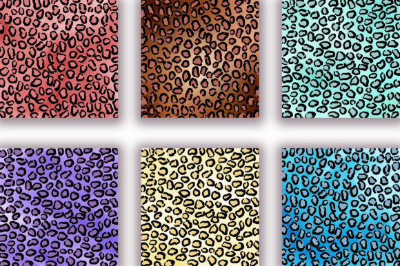 Leopard Ombre Background Digital Papers Graphic Backgrounds By PinkPearly - Image 3
