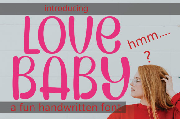 Download Free Lovebaby Font By Aneukmuda190 Creative Fabrica for Cricut Explore, Silhouette and other cutting machines.