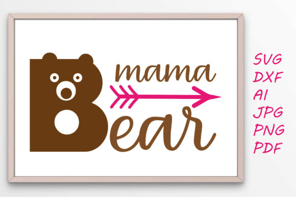 Download Free Mama Bear Graphic Graphic By Tanja Dianova Creative Fabrica for Cricut Explore, Silhouette and other cutting machines.