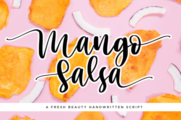 Download Free Mango Salsa Font By Haksen Creative Fabrica for Cricut Explore, Silhouette and other cutting machines.