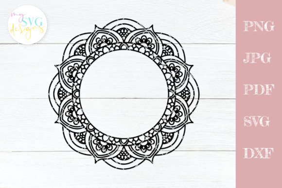 Download Free Monogram Frame Mandala Frame Graphic By Mysvgdesigns Creative for Cricut Explore, Silhouette and other cutting machines.