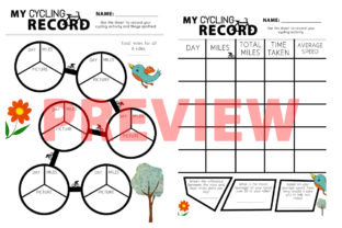 My Cycling Record Graphic 3rd grade By Saving The Teachers