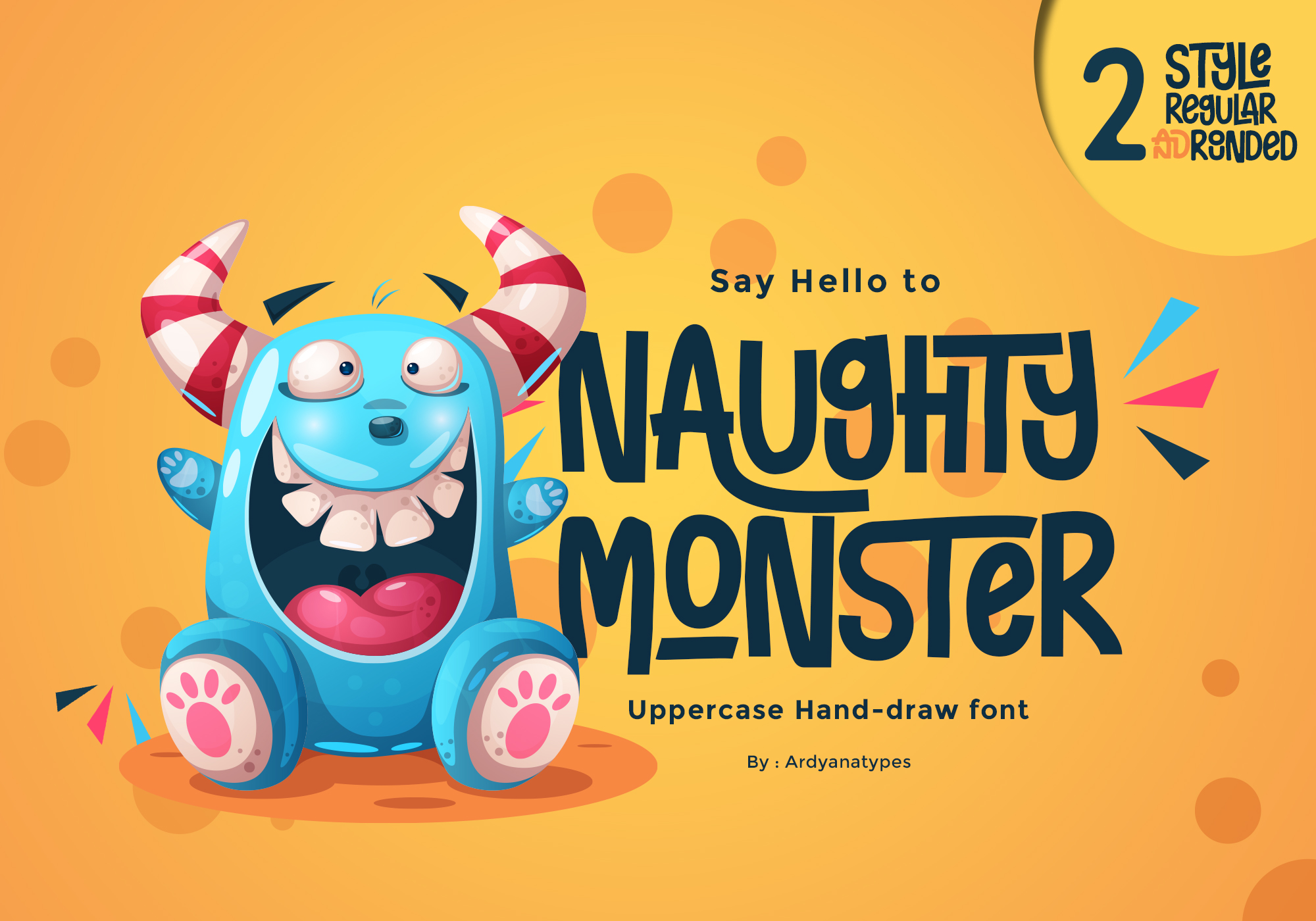 Download Free Naughty Monster Font By Ardyanatypes Creative Fabrica for Cricut Explore, Silhouette and other cutting machines.