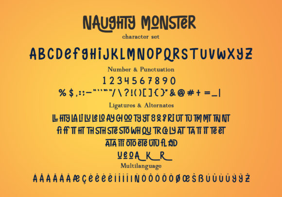 Print on Demand: Naughty Monster Display Font By ardyanatypes - Image 5