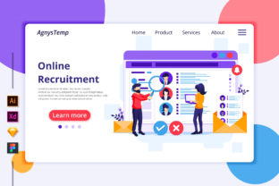 Online Recruitment Landing Page Graphic Landing Page Templates By agnyhasyastudio