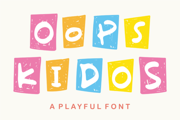 Print on Demand: Oops Kidos Display Font By Azetype